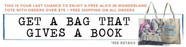 Get a bag that gives a book. See details