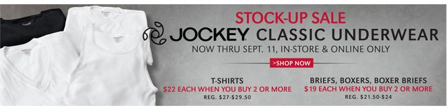 STOCK-UP SALE | JOCKEY CLASSIC UNDERWEAR
