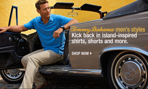 Tommy Bahama® men's styles kick back in island-inspired shirts, shorts and more. Shoop now.