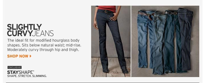 Shop Slightly Curvy Jeans