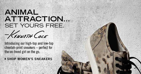 Introducing our high-top and low-top cheetah-print sneakers - perfect for the on-trend girl on the go. // SHOP WOMEN'S SNEAKERS