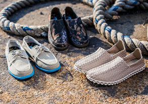Shop Island Surf Co. ft. Woven Slip-Ons