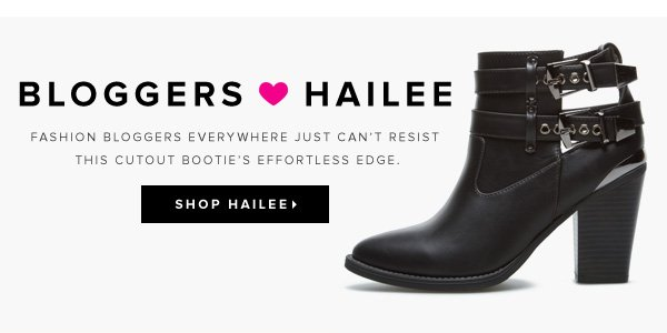 Bloggers <3 Hailee Fashion bloggers everywhere just can't resist this cutout bootie's effortless edge - - Shop Hailee