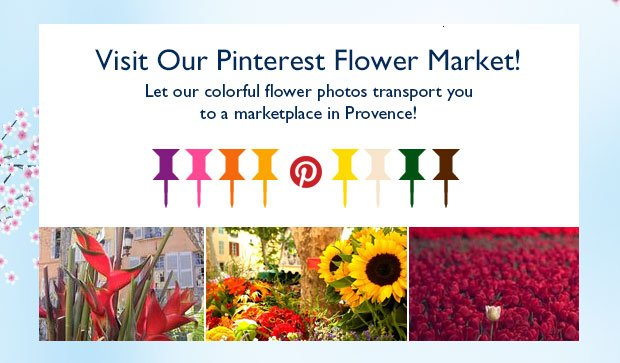 Visit L'OCCITANE's Pinterest Flower Market! Let our colorful flower photos transport you to a marketplace in Provence!