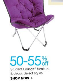 50-55% off Student Lounge furniture & decor. Select styles. SHOP NOW