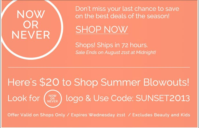 Now or Never: Heres $20 to Shop Summer Blowouts