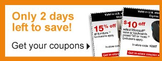 Only 2  days left to save! Get your coupons.