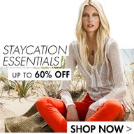 STAYCATION ESSENTIALS UP TO 60% OFF