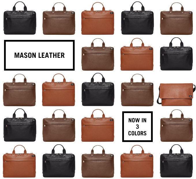 Mason Leather now in 3 colors.