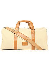 The Duffle Bag in Creme Canvas