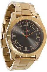The Big Ben Watch in Gold Black Linked