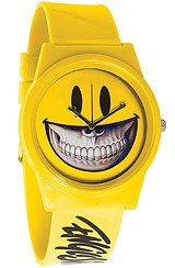 The Ron English Pantone Smiley Grin Watch in Yellow