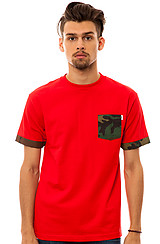 The Lazy Lep Pocket Tee in Red