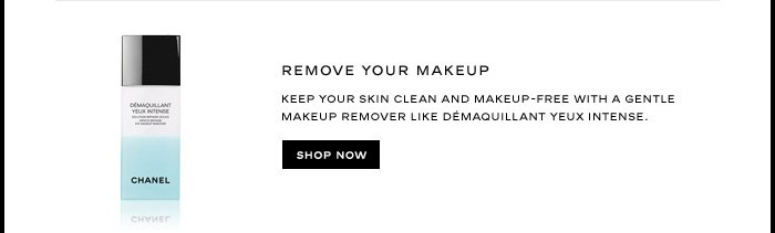 REMOVE YOUR MAKEUP 