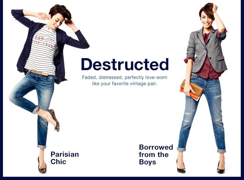 Destructed | Parisian Chic | Borrowed from the Boys