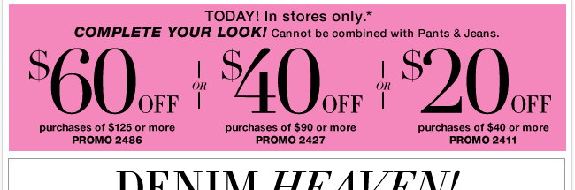 Save in-store with your coupon!