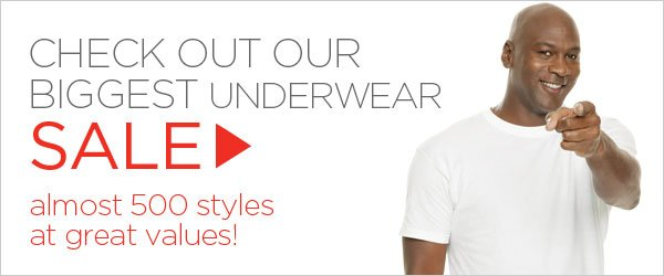 Biggest Underwear Sale Ever with almost 500 styles