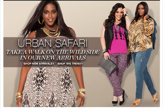 URBAN SAFARI: Take a walk on the wild side in our new arrivals.