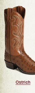 Mens Ostrich Boots on Sale