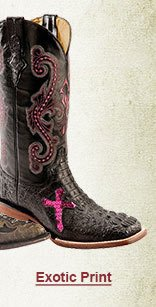 Womens Exotic Print Boots on Sale