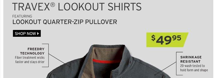 Travex® Lookout Quarter-Zip Pullover