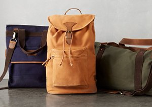 Mixed Materials: Canvas & Leather Bags