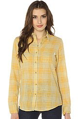 Burton Grace Plaid Top in Haze
