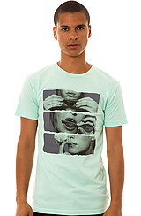 Freshjive Blunt Roll Tee in Tiffany Blue