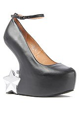 Jeffrey Campbell Starynite Shoe in Black and Silver