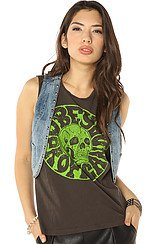 Obey Joy Ride Denim Vest in Vintage Indigo