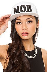 Married to the Mob MOB Trucker Hat in White