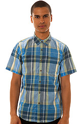 Ezekiel Turnpike Buttondown Shirt in Medium Blue