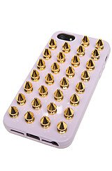Felony Case Spiked iPhone 5 Case in Lavender and Gold Spikes