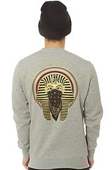 Crooks and Castles Pharoah Crewneck Sweatshirt in Heather Grey