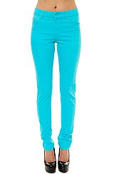 Cheap Monday Tight Fit Skinny Jeans in Riviera Turquoise