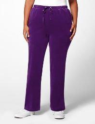 Black,Purple Cozy Velour Pant