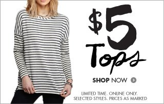 Shop women's tops for $5!