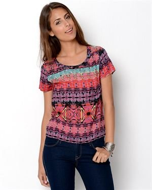 Angie Studded Print Blouse