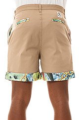 The Thomas Trop Shorts in Natural with Palm Chain