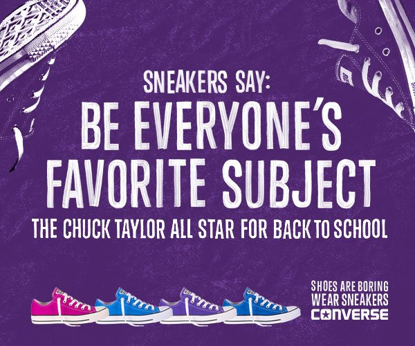 Sneakers Say What? Chuck Taylors in all your favorite colors!