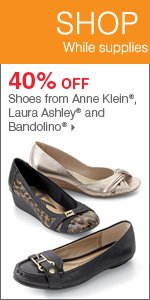 175+ Bonus Buys throughout the store! 40% off shoes from Anne Klein®, Laura Ashley® and Bandolino®. Shop now.