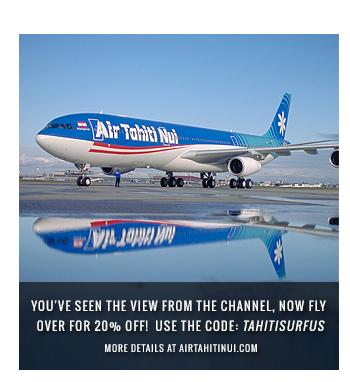 20% Off Flights to Tahiti! Use Code TAHITISURFUS