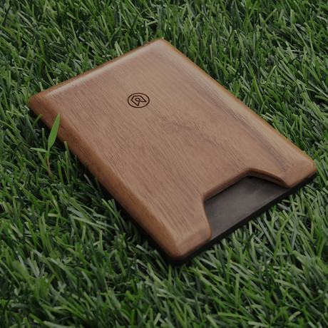 Union Wood Wallet // Dark Walnut