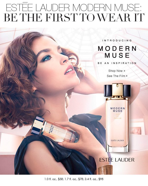 Introducing Modern Muse the new fragrance from Estee Lauder available now at Dillards. Be the first to wear it.