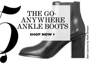 THE GO-ANYWHERE ANKLE BOOTS. SHOP NOW