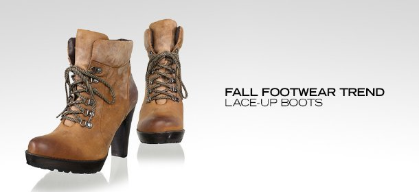 FALL FOOTWEAR TREND: LACE-UP BOOTS, Event Ends August 21, 9:00 AM PT >
