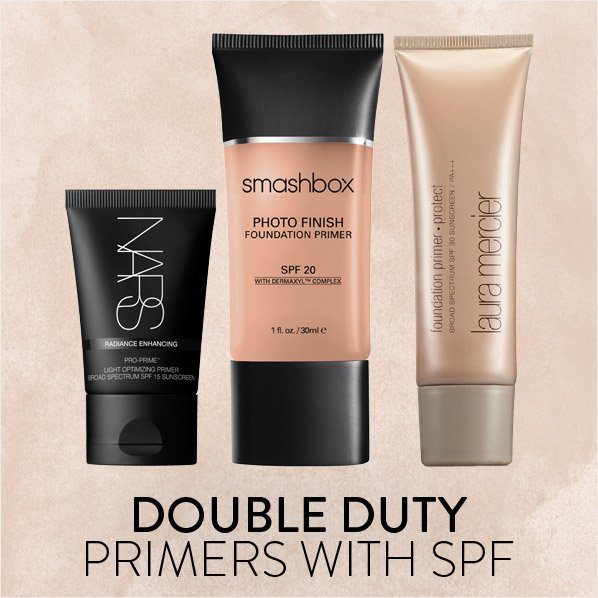 DOUBLE DUTY PRIMERS WITH SPF