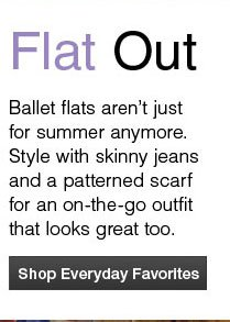 Flat Out Shop Everyday Favorites