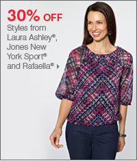 175+ Bonus Buys throughout the store! 50% off Styles from Laura Ashley®, Jones New York Sport® and Rafaella®