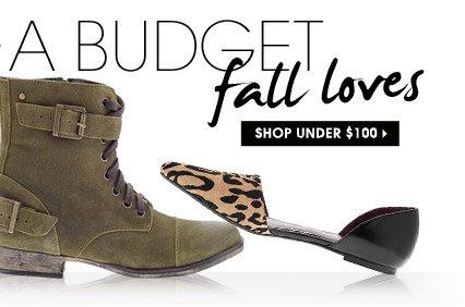 fall loves. SHOP UNDER $100